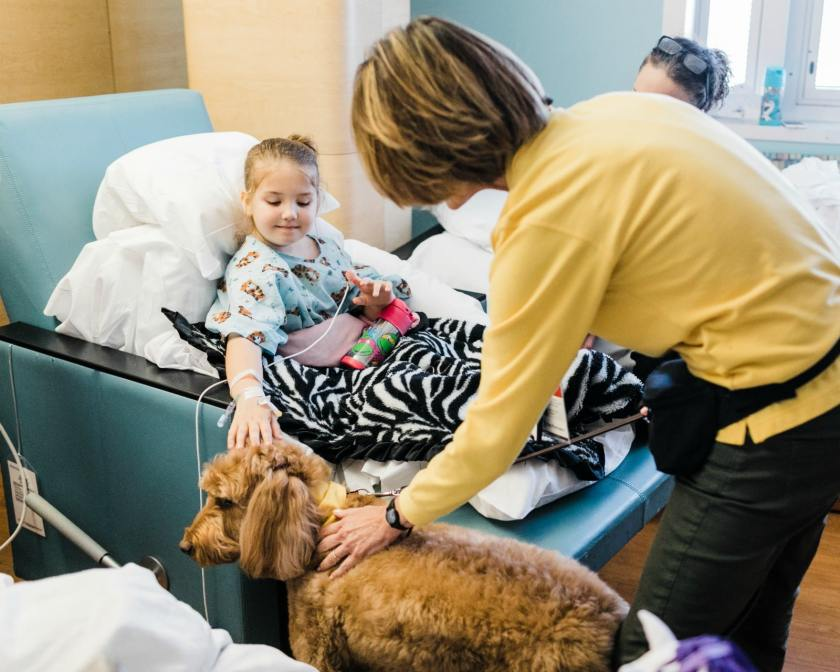 Animal-Assisted Therapy brings fun, connection, and happiness to hospital stays
