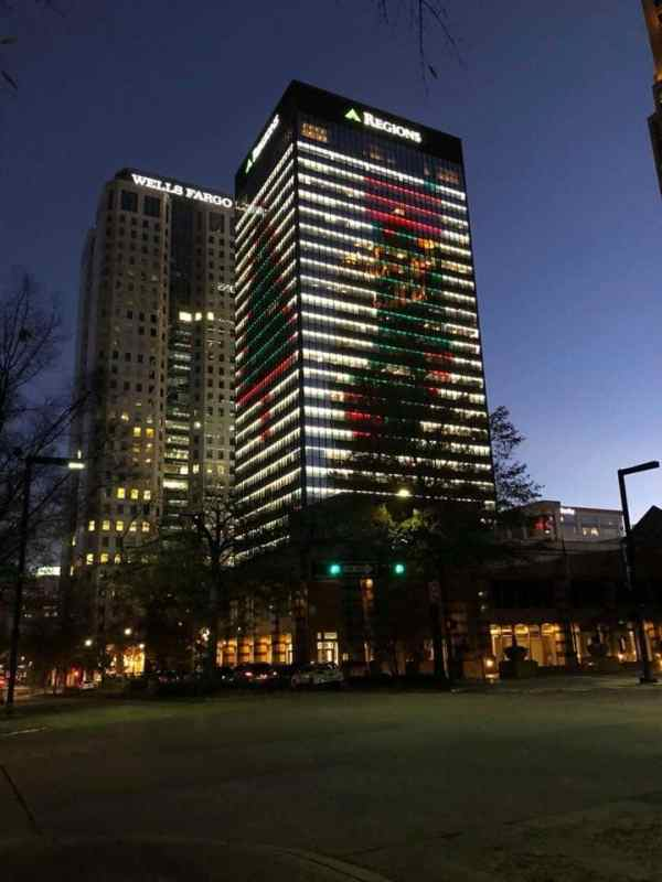 Birmingham, Regions Center, Christmas lights, Christmas decorations, light displays, Driver's Way