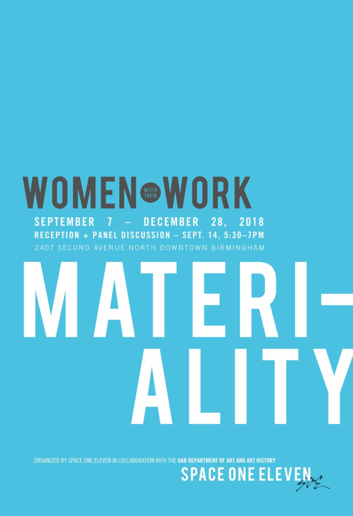 Women with their Work III: Materiality Open Gallery with Artist Talks