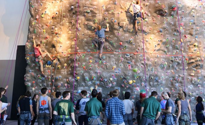 The UAB Climbing Club is one of homes of women climbers in Birmingham.