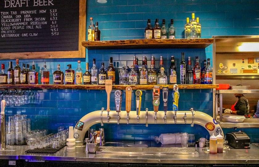 Birmingham, Alabama, Avondale, Rodney Scott's BBQ, draft beer, liquor selection