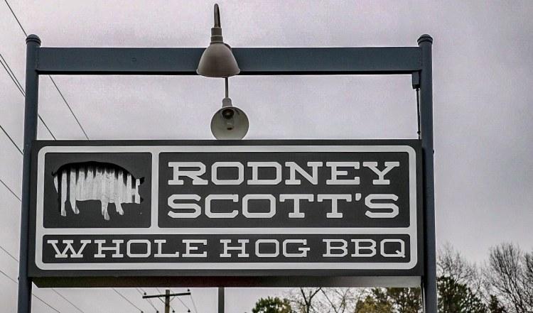 Birmingham, Alabama, Avondale, Rodney Scott's BBQ, sign