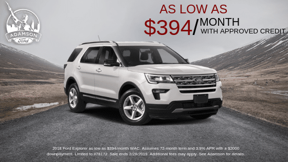 Adamson Ford has Ford Explorers available that would be perfect for a field trip to North Birmingham. Or really, anywhere.