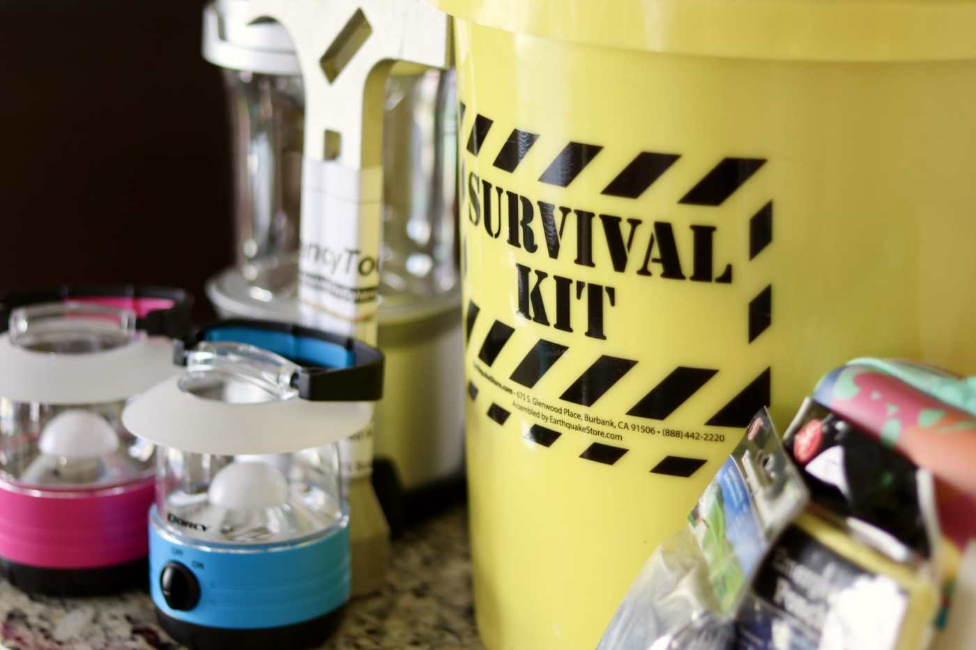 Be prepared with an emergency survival kit. (Photo by Christine Hull for Bham Now)