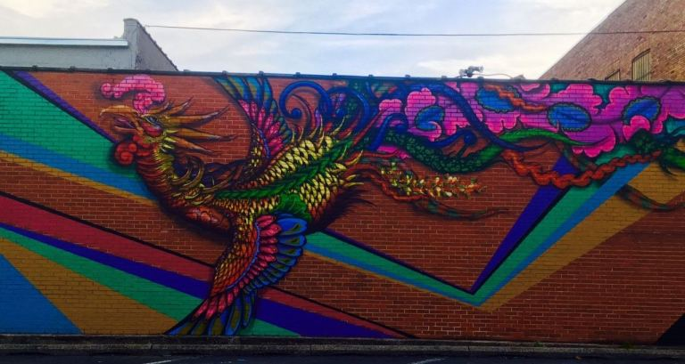 The North Birmingham Ecoscape Rooster wins best Instagram spot in the community.