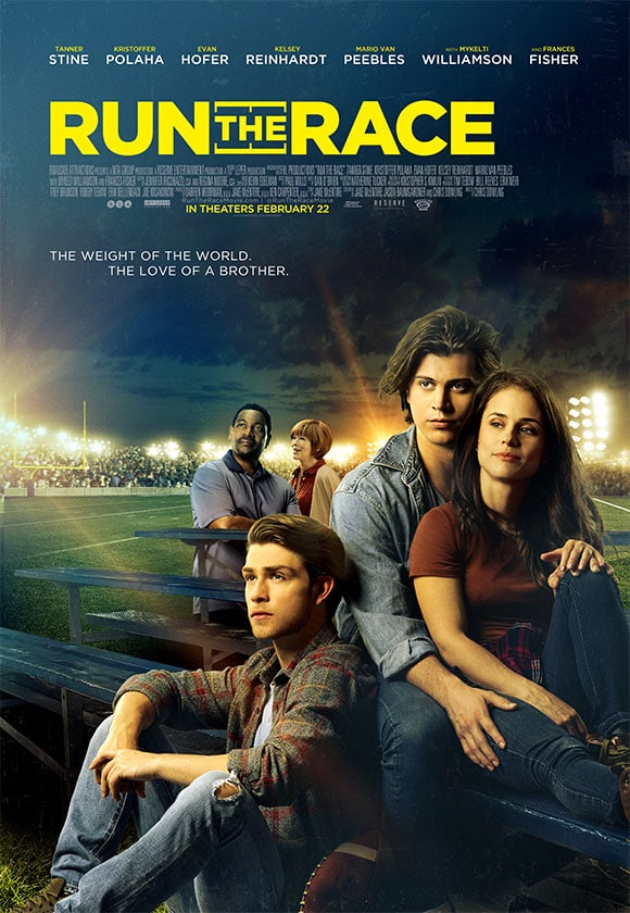 Run the race hit theaters Friday, February 22. (Photo via Run the Race media website)