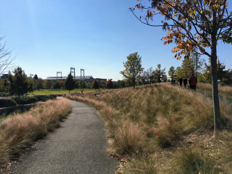 Railroad Park is a great example of a wheelchair accessible park.