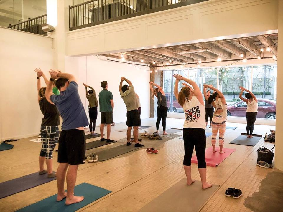 Your March guide to free workouts in Birmingham including yoga at The Pizitz