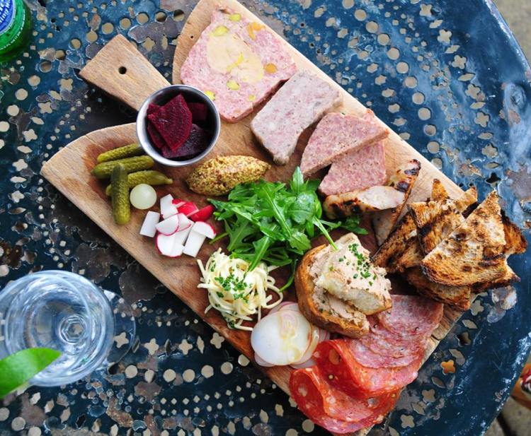 Birmingham, Chez Fonfon, charcuterie, cheese boards