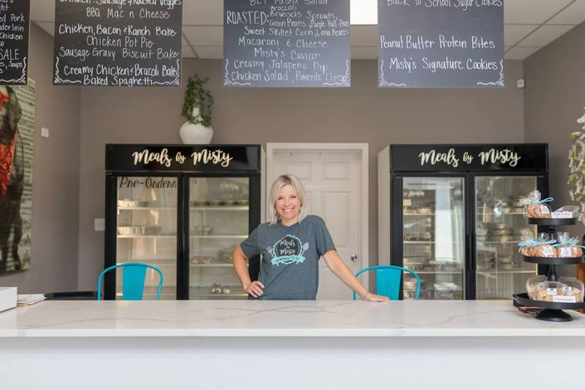 Photo of Misty Westover, proprietor of Meals by Misty in Trussville, Alabama, is offering homemade Easter dinner to-go.