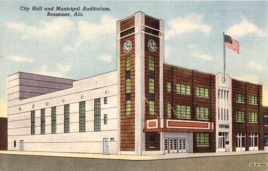 Bessemer City Hall c. 1945. (Photo via Bham Wiki)