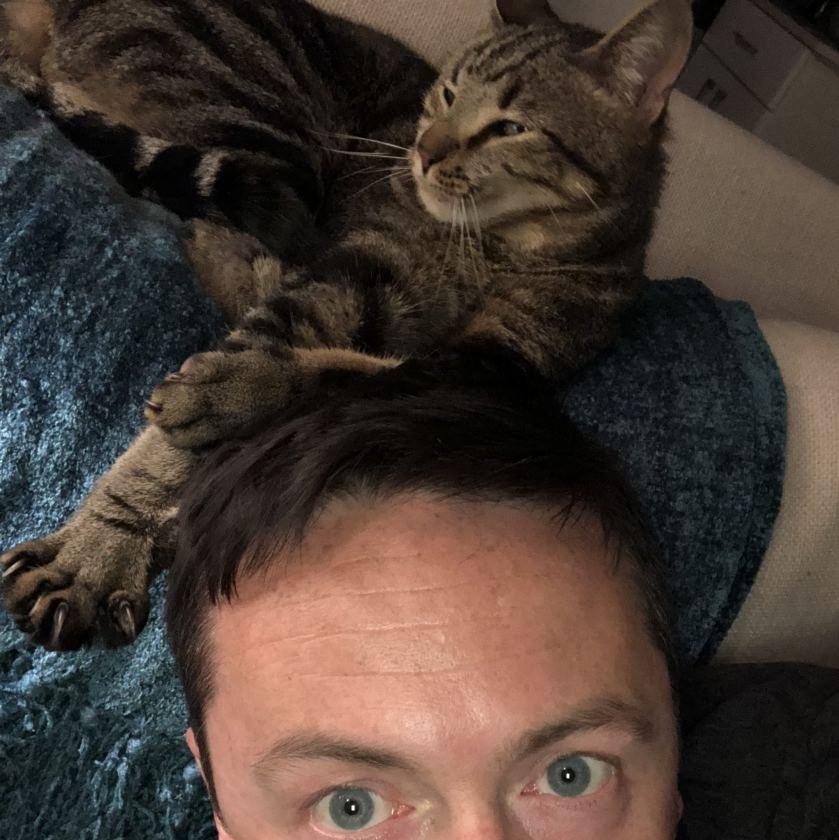 Jon and Huck working on their selfie skills.