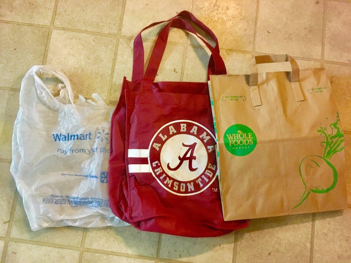 "The big Alabama plastic bag ban ""ban"" debate. Plastic? Paper? Fabric? Cast your vote here."