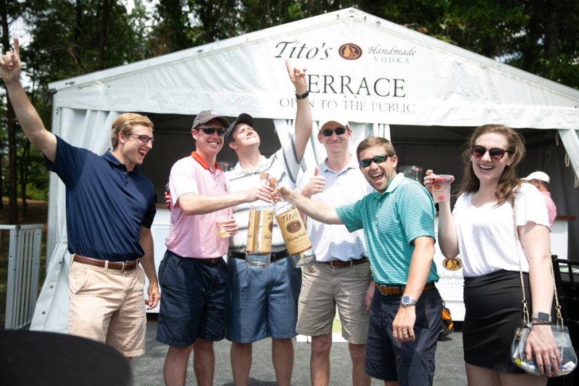 Tito's Terrace is the place to grab the best cocktail on the course!