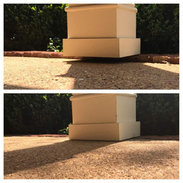 Concrete raising before and after by AFS, A Bayless Company.