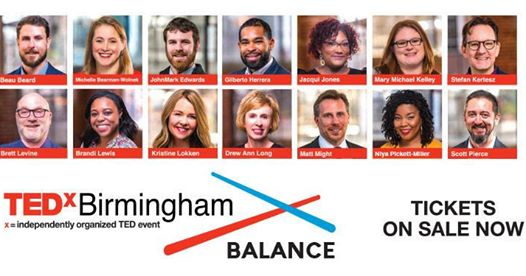 TEDx Birmingham 2019 has a great lineup.