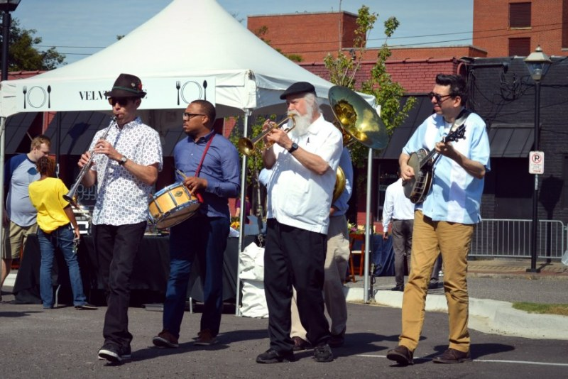 Chuck and the Kings played New Orleans style jazz at the second annual Sunday Dinner in Woodlawn back in October 2018.
