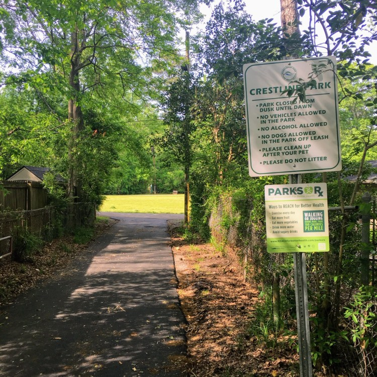 Crestline Park is the hidden gem of Birmingham's Crestline community. This is the accessible entrance.