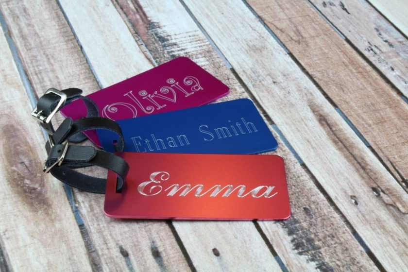 Birmingham, Etsy, Peach Fuzz Gifts, luggage tags, Mother's Day, gifts