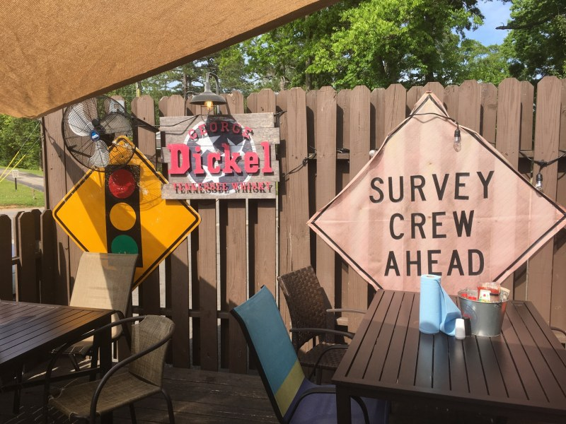 Saw's Juke Joint has a nice back patio that could make a decent Instagram-worthy spot.