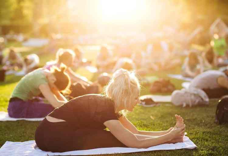 Bring your own mat and head to Shipt Yoga on the Green Sunday, May 5. (Photo submitted)