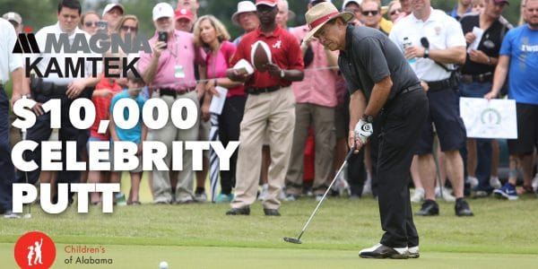 Watch as celebrities putt it out for the $10,000 charity prize