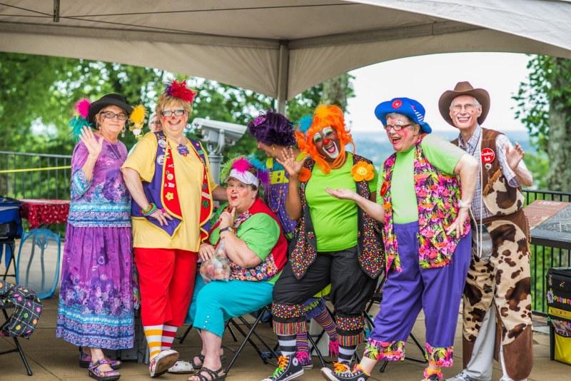 Group of Clowns at Vulcan Park's Birthday Bash
