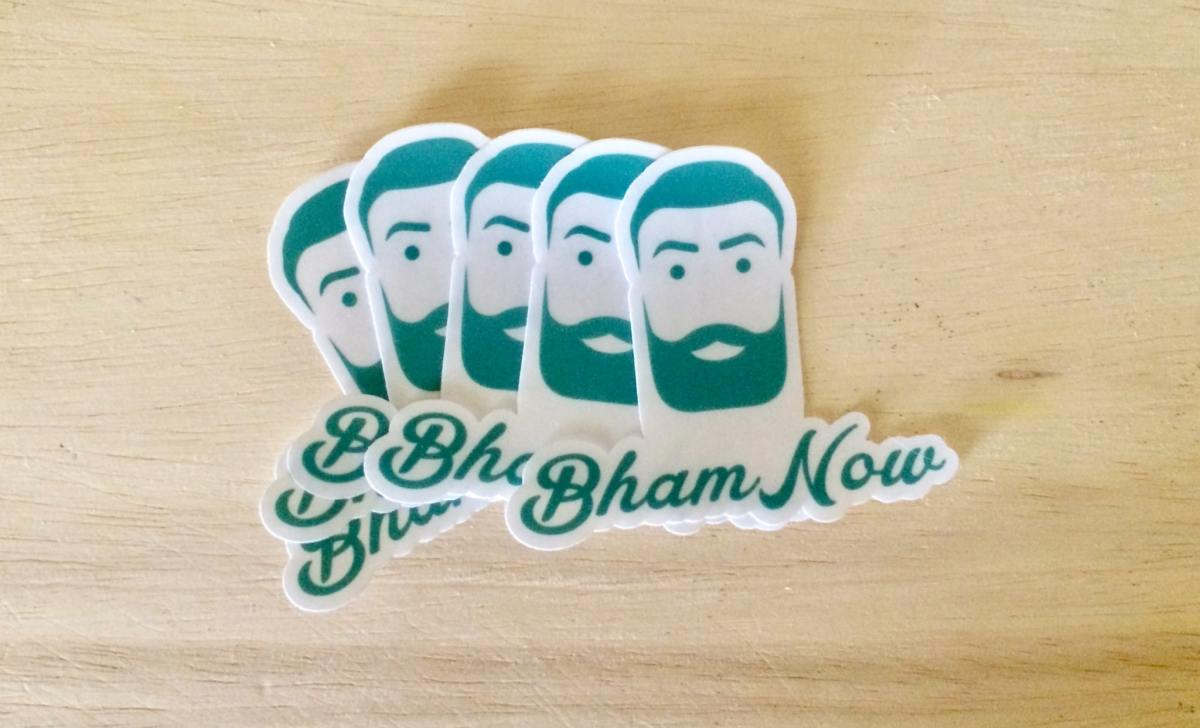 Enter your photo into Bham Now's logo look-alike contest. The winner gets free swag!