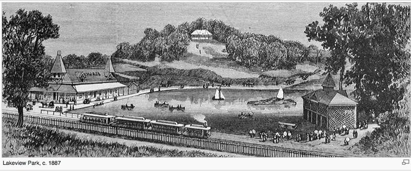 Lakeview Park and Lake 1890s