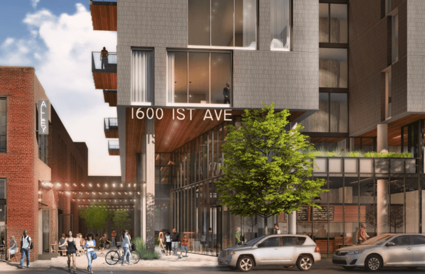 The swanky 140-room boutique hotel will be located at 1600 1st Avenue in Parkside. Photo submitted