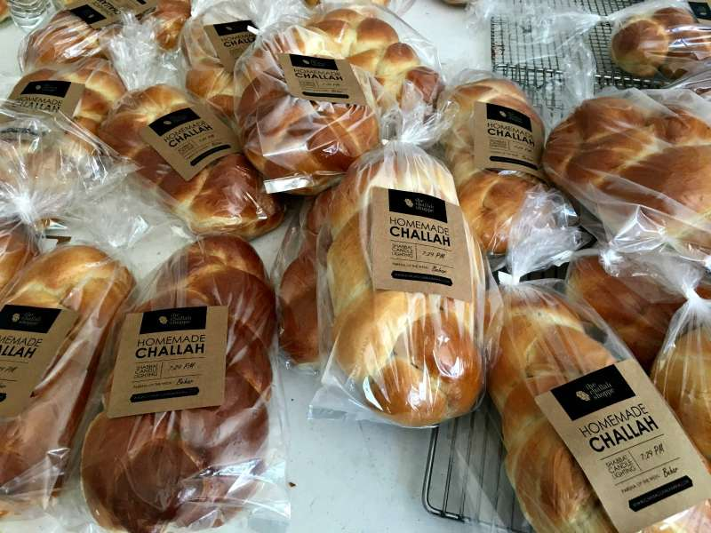 Anyone can come to Chabad on Fridays to buy bread.