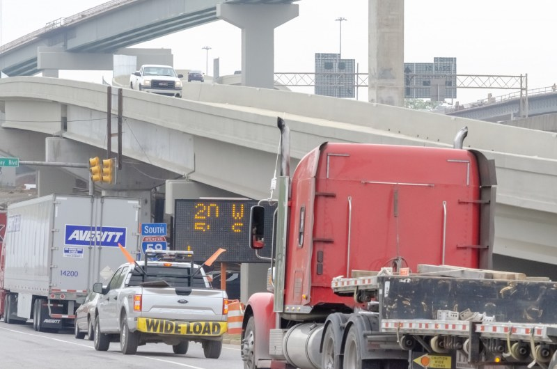 Delays are to be expected during the 59/20 bridge construction.