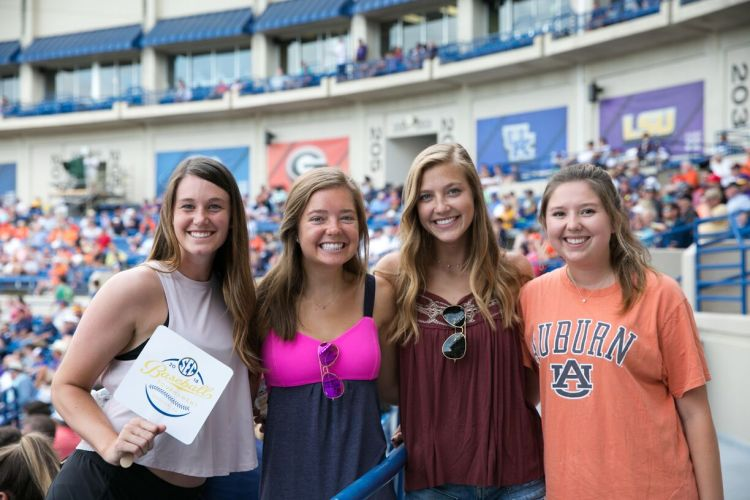 Fans at the 2018 SEC Baseball Tournament. To purchase tickets for the 2019 tournament, visit the SEC Ticket Office. Photo via SEC Baseball Tournament