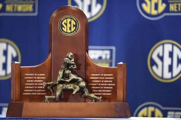 The SEC trophy will also be on display at the Coca-Cola Center Wednesday, May 8.