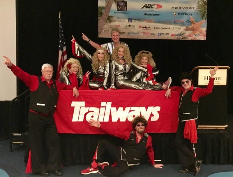 Birmingham Disco Amigos at a Trailways corporate event.