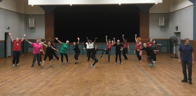 Birmingham Disco Amigos rehearsing at the Levite Jewish Community Center.