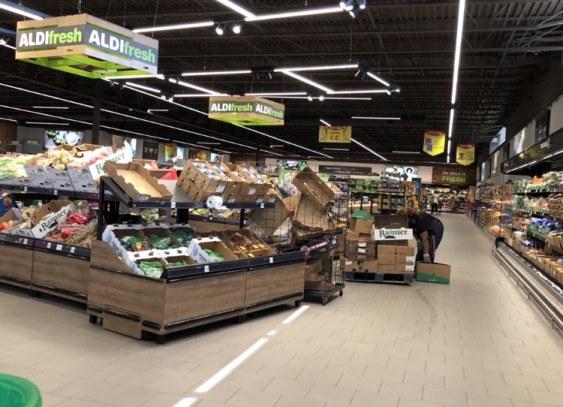 ALDI grocery store at Stadium Trace Village, Hoover, AL.