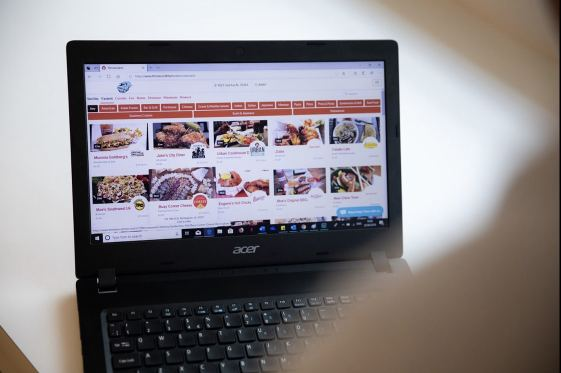 Using The TakeOut Bham on a laptop