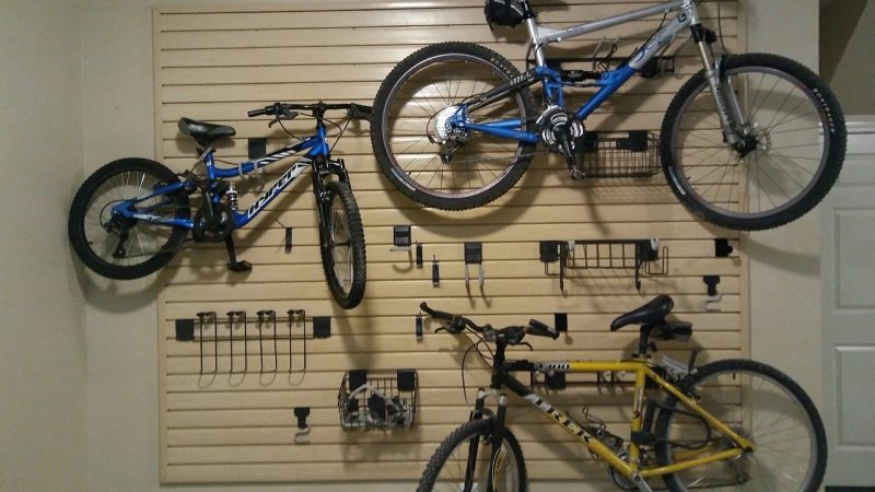 Closets by Design dream garage with awesome places to hang your bikes.