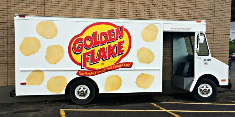 On the Golden Flake factory tour in Birmingham, you can see this half-truck. It's kind of cute.