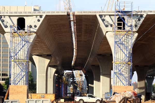 The gap between the segments of the bridge project will soon be filled.