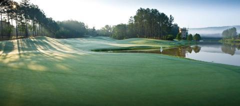 Overlooking a green on Balantrae Golf Club, Pelham, AL