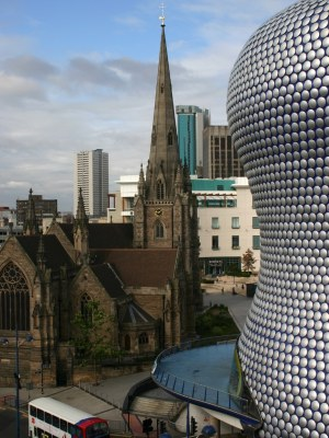 Birmingham Bullring and church