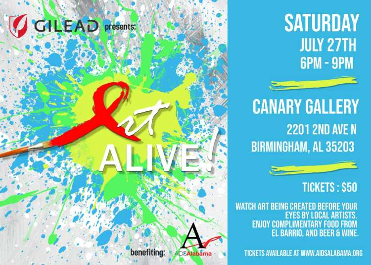 Art Alive! is a benefit for AIDS Alabama at the Canary Gallery in Birmingham.