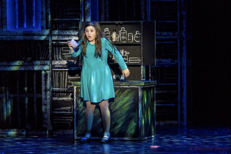 Matilda tampers with her fathers hairspray