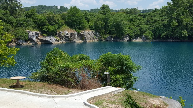 Submerged quarry