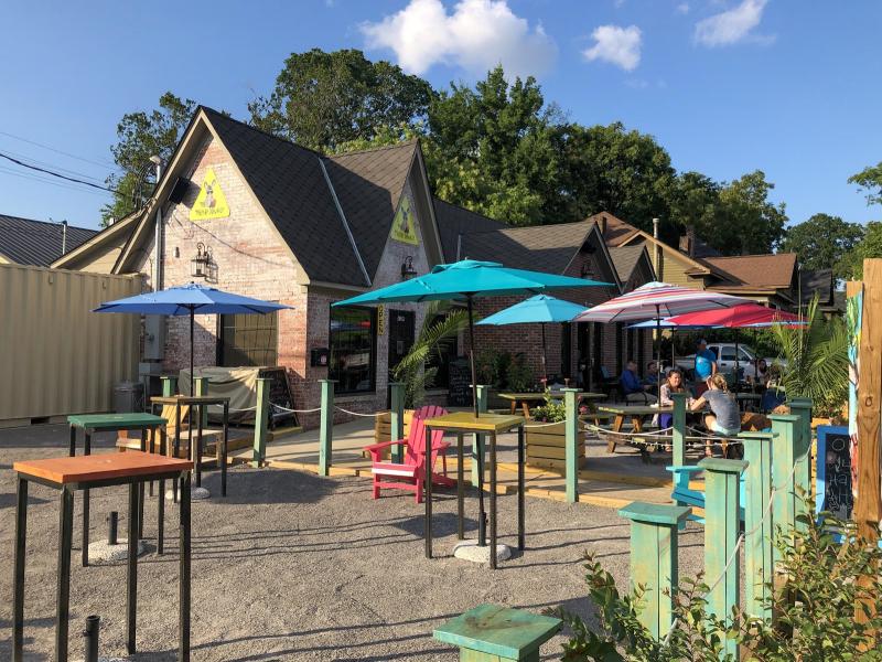 Garden of island themed bar and restaurant in Birmingham Alabama
