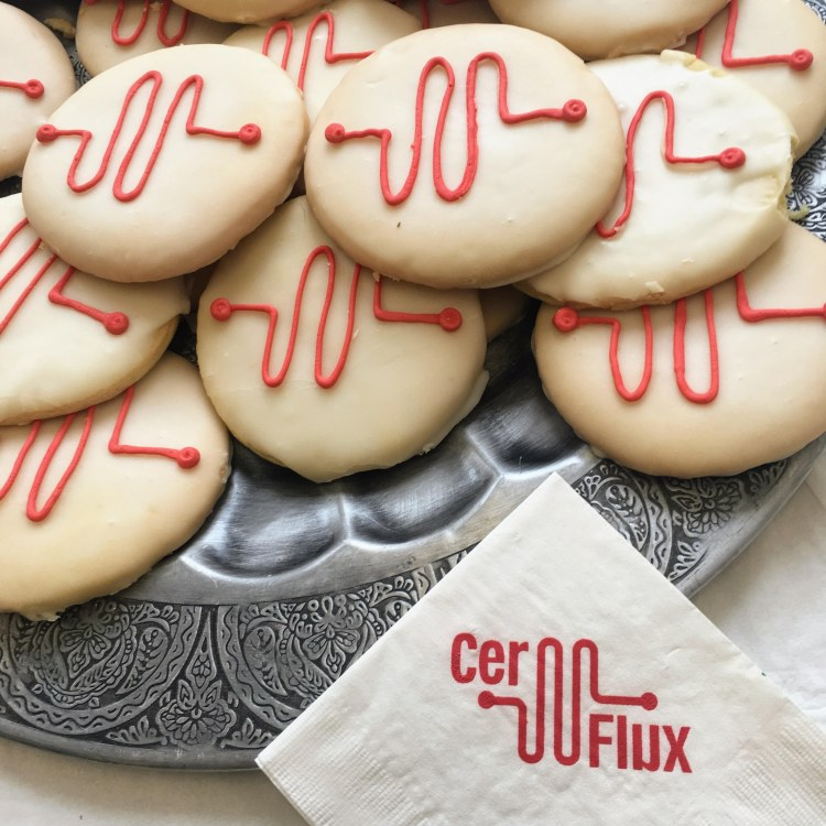 CerFlux even has cookies with their logo on them.