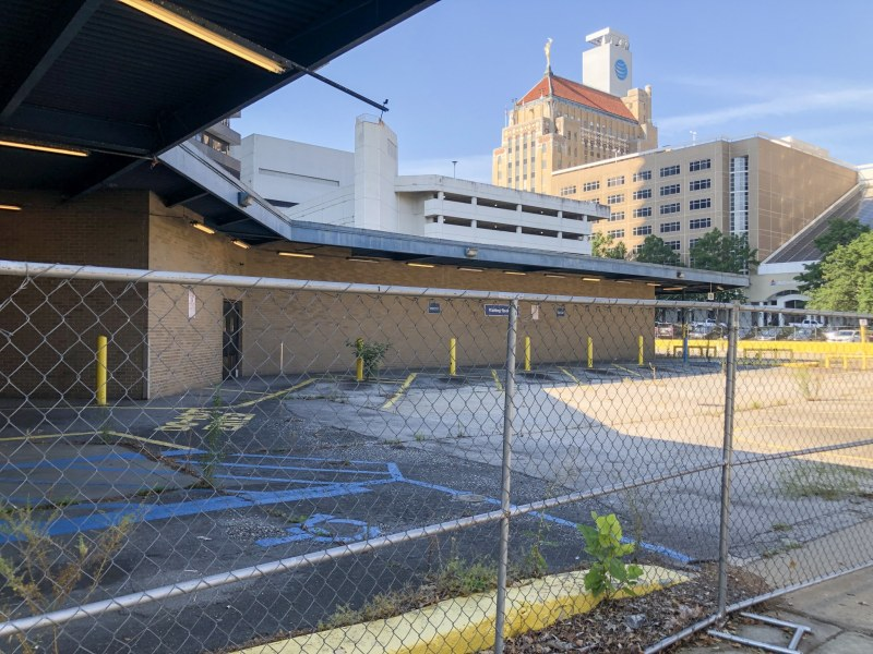 80 on-grade parking spots at the old Greyhound Station downtown.