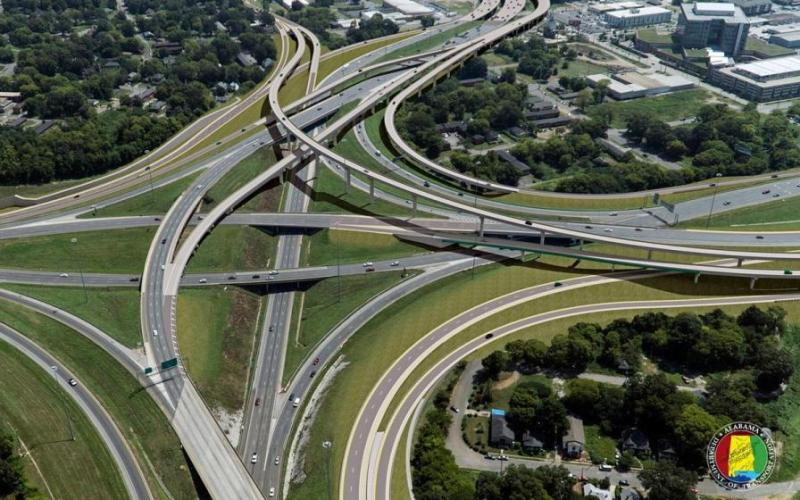 The interchanges where the highway meets other highways are either done or almost done.